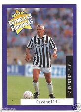 Rare '96 Panini Italy's EUROPEAN SUPER STAR Fabrizio Ravanelli with Jueventus