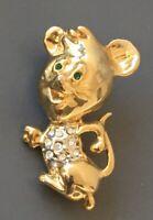 Adorable Vintage  Mouse  Brooch