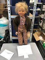 Inge Enderle Vinyl Puppe Michi 65 cm. Top Zustand