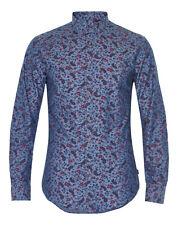 Matinique Allan Paisley Print Slim Shirt/blue - Large SRP
