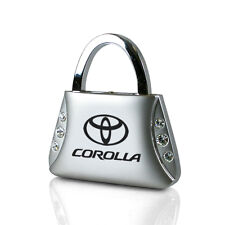 Toyota Corolla Clear Crystals Purse Shape Key Chain