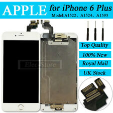 """White Screen For iPhone 6 5.5"""" Plus Replacement Digitizer LCD Home Button Camera"""