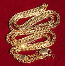 "22k 916 yellow gold necklace link chain 18.0""fancy vintage handmade 12.0g"