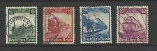 NAZI GERMANY # 459-462 Used CENTENARY OF RAILROADS