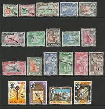 Zanzibar 1964 Complete set local handstamped SG 394-413 Mnh.