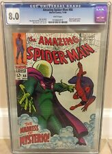 AMAZING SPIDER-MAN #66 CGC 8.0 MYSTERIO APPEARANCE GREEN GOBLIN CAMEO