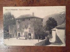 CARTOLINA RICCO MONTEFESTINO MODENA RISTORANTE BARBIERI ANIMATA VIAGGIATA 1914