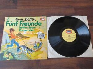 Fünf Freunde 6 Helfen einem Kameraden Vinyl LP Schallplatte Hörspiel Enid Blyton