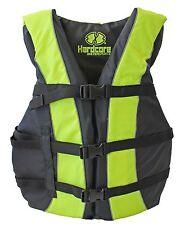 Hardcore NEON High Visibility Adult Universal Life Jacket PFD Type III Ski Vest