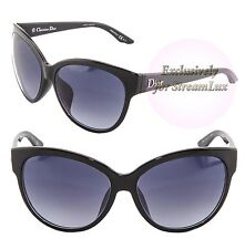CHRISTIAN DIOR PANAMEF D28JJ Cat Eye Women Sunglasses Black Gradient