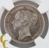 1868 Great Britain Shilling (NGC VF35) England Silver 1S Die#8 KM#734.2