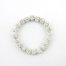 Women Jewelry Shambhala Bracelet 10mm Crystal Disco Clay Balls -18 Colors