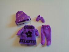 NEW Mattel Kelly Purple Crayon Set Dress Hat Tights Shoes #14