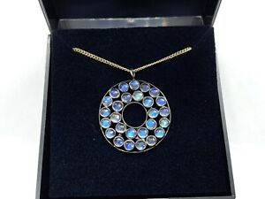 Stunning Sterling Silver Moonstone Pendant Necklace