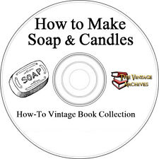 How to Make Soap & Candles Vintage Book Collection on CD