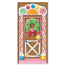 Beistle 20017 Gingerbread House Door Cover, 30 X 5'