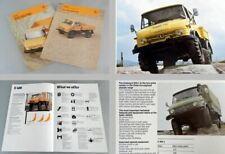 Unimog U600L U800L U1100L U600 brochure 2x 1987