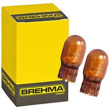 2er Set BREHMA WY21W  12V 21W WX3x16d Orange Glassockel Blinkerlampe