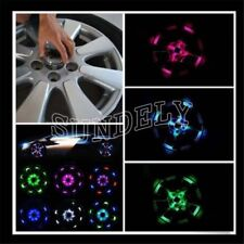 Solar LED Flash Car Tyre Lamp Rim Wheel Centre Hub Cap Light Neon Cover