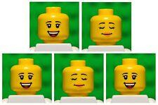 Lego HEADS dual sided # pack of 5 # girl princess woman female lips #1675