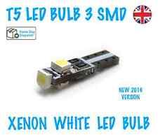 1x NEW T5 LED BULBS 3 SMD DASHBOARD/SUN VISOR LIGHTS SUPER XENON WHITE 286 12V