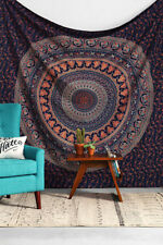 Hippie Indian Tapestry Blue Peacock Mandala Wall Hanging Large Size Bed Sheet