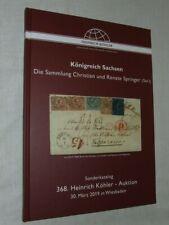 Kohler Stamp Auction Catalogue - German States, Saxony (Springer) - March 2019