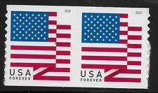 US Scott #5260, P Coil PAIR 2018 American Flag VF MNH