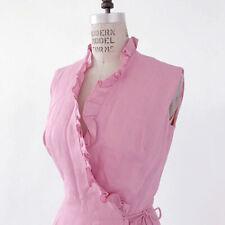 â• 60s Vintage Pink Ruffle Wrap Dress : avant garde rockabilly mod retro 70s 80s