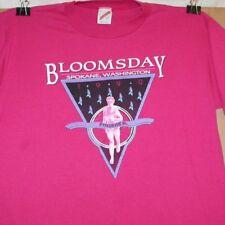 1990 Spokane Bloomsday run race pink ss cotton blend t-shirt Size L