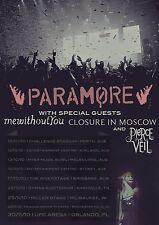 PARAMORE / MEWITHOUTYOU 2010 AUSTRALIA AND USA CONCERT TOUR POSTER- Alt/Pop Rock