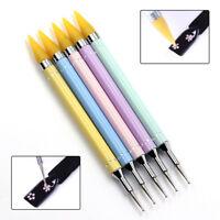 Hot Dual-ended Rhinestone Picker Dotting Wax Pencil Nail Art Crystal Handle Tool