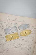 Custom Brass Tags - Numbered Locker basket plate - locker number - room number