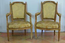 Paire de fauteuils Parisiens Ancien d'époque Louis XVI à Plumets Soie Furniture