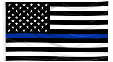 """THIN BLUE POLICE FLAG"""" 3' X 5' POLYESTER FLAG FROM MITCHELL PROFFITT"""