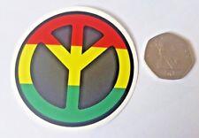 Jamaican Peace Sign-Voiture Van Laptop Skateboard sticker badge