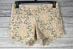 J. Crew Women's Multicolor Flat Front Side Zip Chino Stretch Shorts Size 6