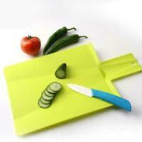 Zusammenklappbares-Schneidebrett-Set u0026 -Halter Koch-Küche Verschiedene W8T4
