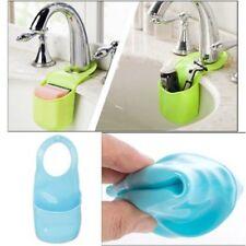Küche Waschbecken Seife Schwamm Halter Zubehör Werkzeug Organizer PVC Korb