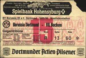 3044 Ticket BL 85/86 Borussia Dortmund - VfL Bochum, 15.04.1986