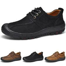 Mens Low Top Faux Leather Outdoor Hiking Sneakers Shoes Round Toe Camping Chic L