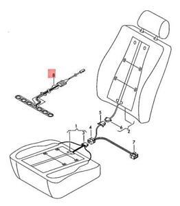 Genuine Sensor Mat Right AUDI A3 S3 Sportback Lim. quattro. 8P4963553B