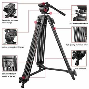 Weifeng WF-717 1.8M Pro Camera Stand Tripod with Fluid Head for DSLR Video Photo