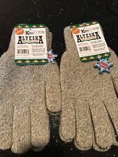 2-Pairs KINCO 5299-XL Mens Alyeska Rag Gloves, Wool Lined Full Finger with PVC