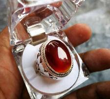 Rare Yamni Aqeeq Blood Red Aqeeq | Agate Akik Yamni Yamani Yemeni Ring Sterling