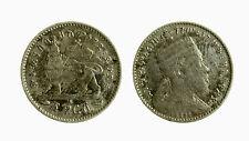 pci3822) Ethiopia 1 gersh silver coin King Menelik II 1889