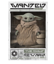 MANDALORIAN - BABY YODA WANTED POSTER 24x36 - THE CHILD STAR WARS 54005