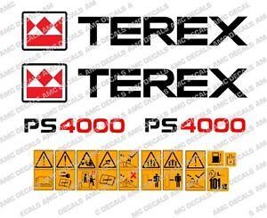 TEREX PS4000 DUMPER DECALS