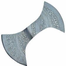 Custom Handmade Damascus Steel Double Edge Axe Head