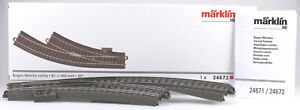 Märklin H.O. #24672 C Track Right Curved Turnout - New in Box